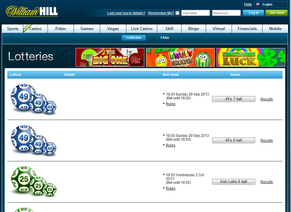 William hill six ball irish lottery 1099-g gambling